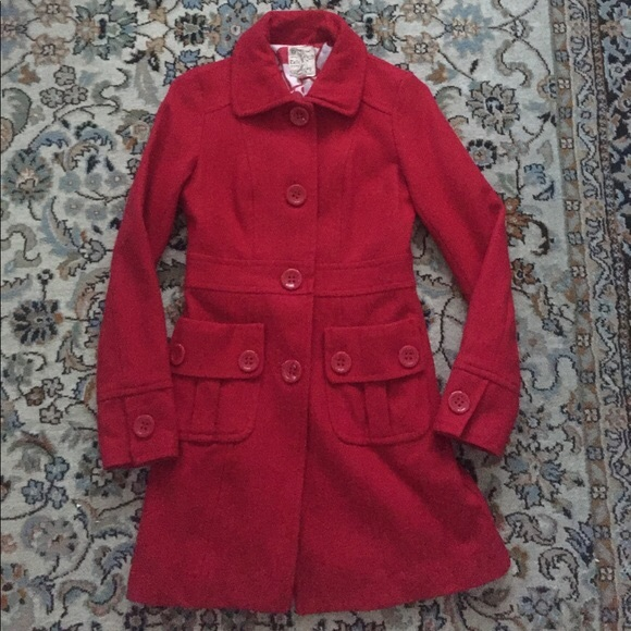 Anthropologie Jackets & Blazers - Anthropologie Tulle brand red wool blend coat